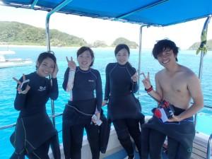 沖縄 ダイビング 慶良間 FUN AOW講習 PAD