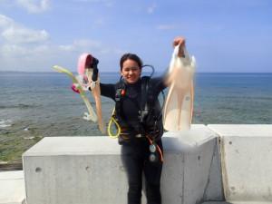 沖縄 ダイビング OWD講習
