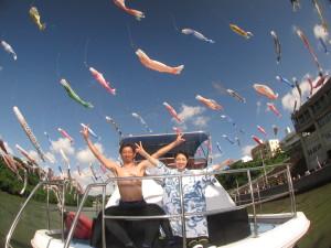 沖縄 体験ダイビング 鯉のぼり