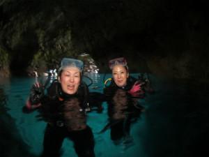 沖縄 体験ダイビング 青の洞窟