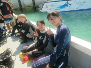 沖縄 体験ダイビング ジンベイザメ