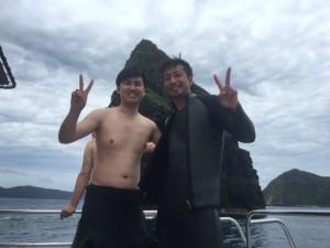 沖縄 ダイビング 男岩