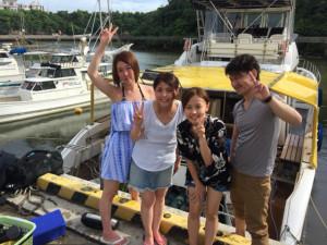 沖縄 体験ダイビング 船前