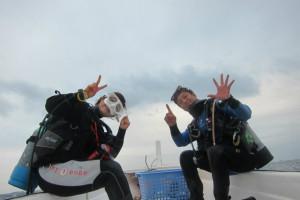 沖縄 だいびんぐ 2015年 潜り納め