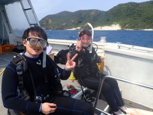 沖縄 ダイビング ボート講習