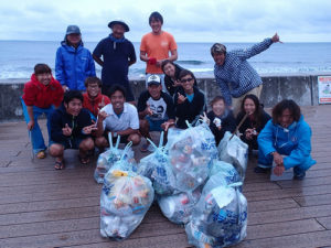 沖縄 ダイビング 砂辺 清掃