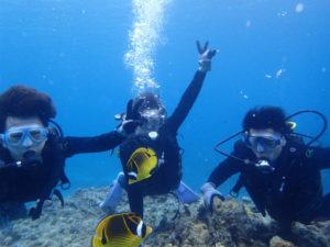 沖縄 体験ダイビング 水中記念