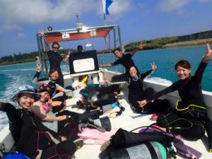 沖縄 ダイビング 万座 FUNダイビング AOW講習 砂辺 ナイトダイビング