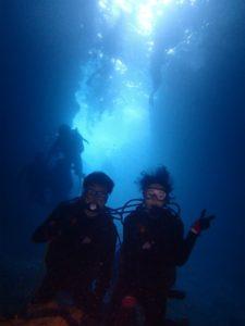 沖縄 ダイビング 真栄田岬 青の洞窟 体験ダイビング