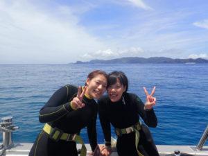 沖縄 ダイビング 慶良間 体験ダイビング マンタ
