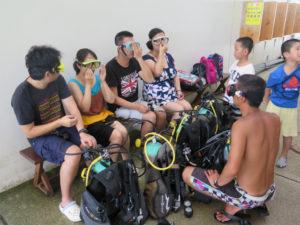 沖縄 体験ダイビング 練習