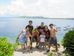 沖縄 体験ダイビング 集合写真