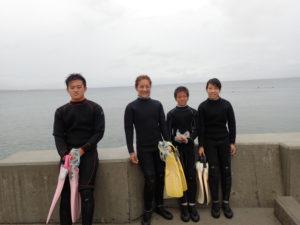 沖縄 ダイビング 砂辺 体験ダイビング 家族