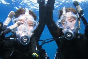 沖縄 体験ダイビング フルフェイスマスク
