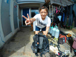 沖縄 砂辺 北谷 ダイビング OW講習