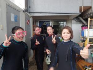 沖縄 体験ダイビング PM集合写真