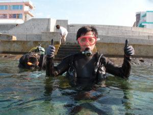 沖縄 体験ダイビング 記念撮影