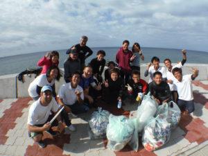 沖縄 ダイビング 砂辺 北谷 保全活動 清掃 アルファダイブ