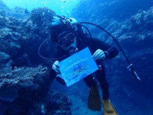 沖縄 万座 恩納村 オーバーヘッドロック ダイビング ファンダイビング FUNダイビング