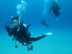 沖縄 ダイビング 水中集合