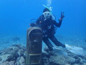 沖縄 ダイビング 砂辺 OWD講習 PADIライセンス