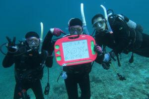 沖縄 東海岸 宜野座 漢那 ダイビング ボートダイビング ファンダイビング AOW PADI講習