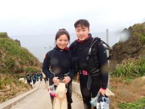 沖縄 恩納村 青の洞窟 真栄田岬 ダイビング 体験ダイビング ビーチダイビング
