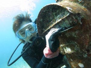 沖縄 砂辺 北谷 ダイビング 体験ダイビング ビーチダイビング 水中ポスト