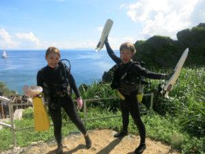 沖縄 真栄田岬 青の洞窟 ダイビング ビーチダイビング 体験ダイビング