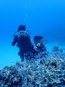 沖縄 ダイビング 慶良間 体験ダイビング フルフェイスマスク