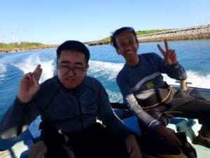 沖縄 万座 瀬良垣 ダイビング ボートダイビング 体験ダイビング