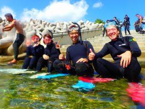 沖縄 崎本部 ゴリラチョップ ダイビング ビーチダイビング 体験ダイビング