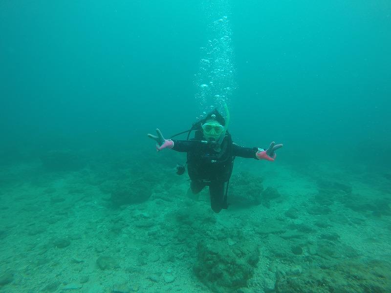 沖縄 北谷 砂辺 宮城海岸 ビーチダイビング ダイビング OW PADI 講習 ライセンス
