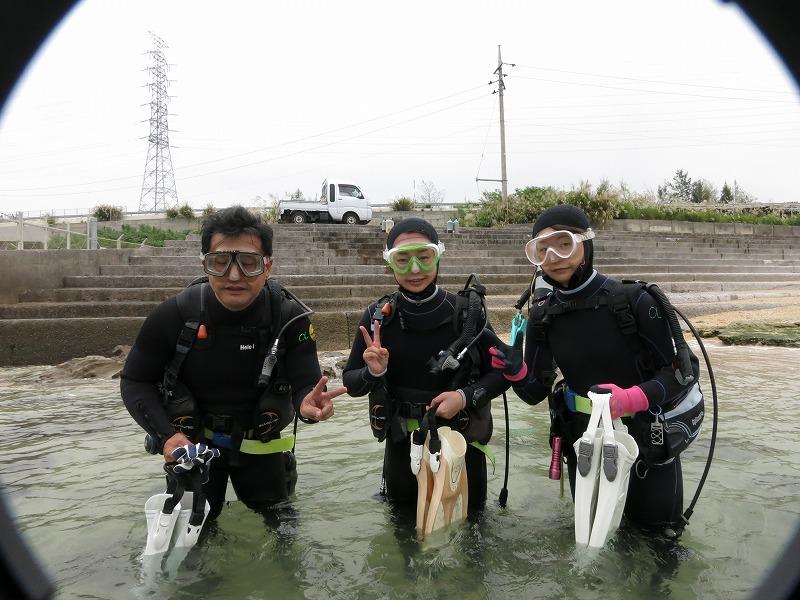 沖縄 金武 レッドビーチ ビーチダイビング ダイビング ファンダイビング