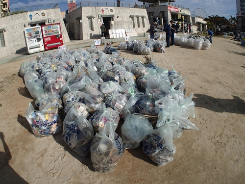 沖縄 ダイビング 北谷 海岸清掃