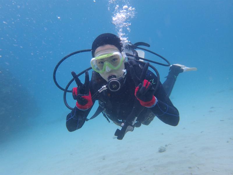 沖縄 本島 北部 ゴリラチョップ ダイビング ビーチダイビング 体験ダイビング