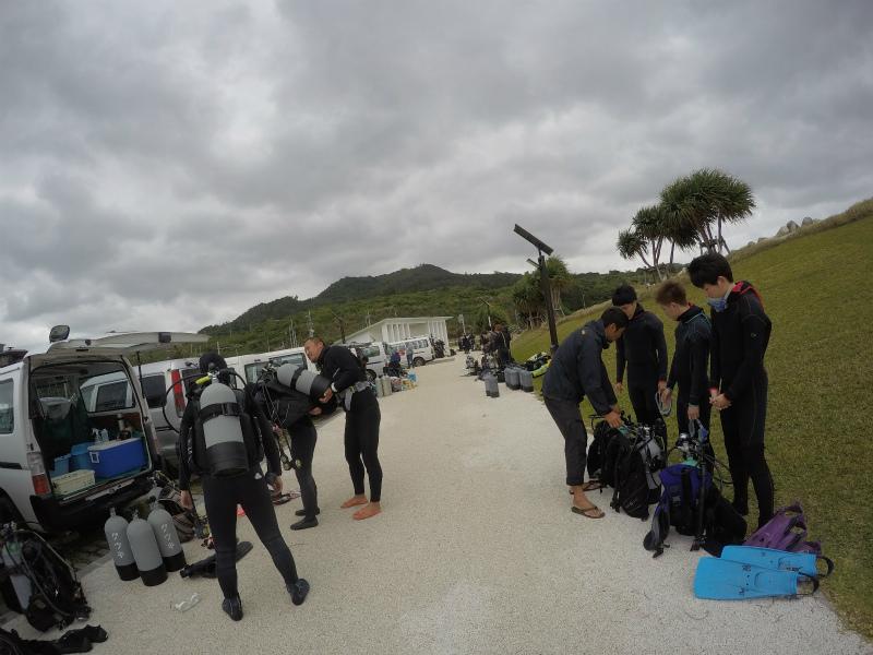 沖縄 崎本部 沖縄本島 ゴリラチョップ ダイビング 体験ダイビング ビーチダイビング