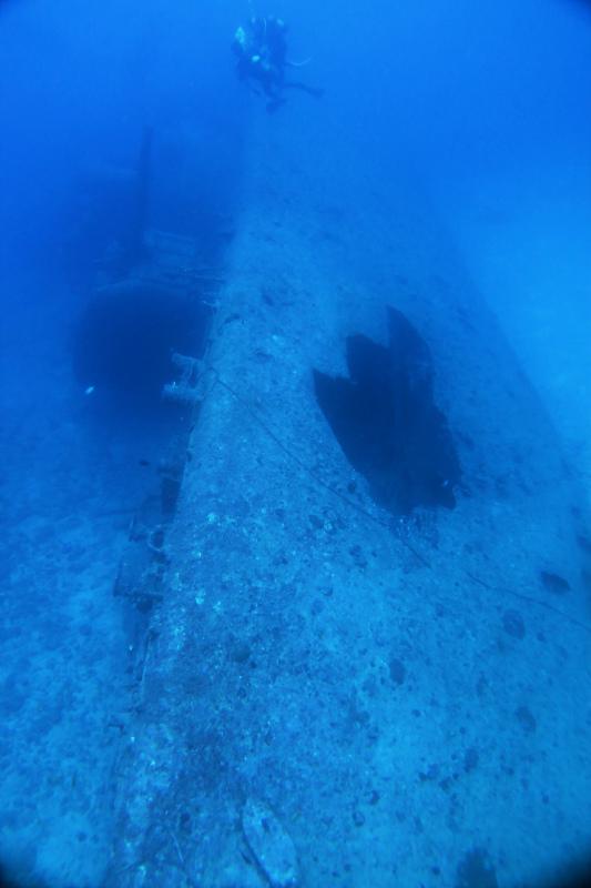 沖縄 古宇利島 エモンズ ダイビング 沈没船