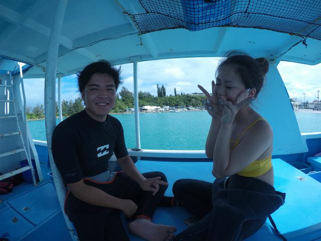 沖縄 恩納村 万座 ダイビング ボートダイビング