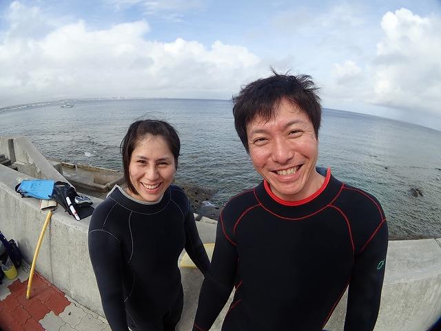 沖縄体験ダイビング 海の前