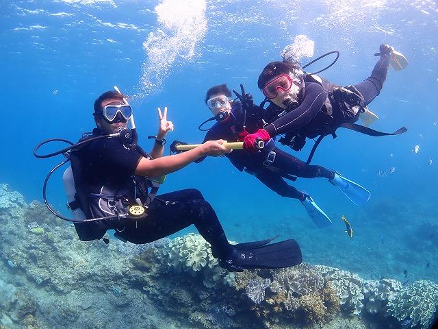 沖縄 体験ダイビング ピース