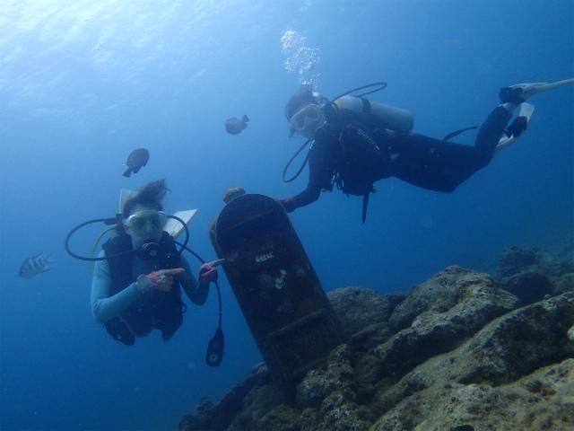 沖縄 砂辺 北谷 ダイビング ビーチダイビング