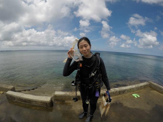 沖縄 砂辺 北谷 ビーチダイビング ダイビング