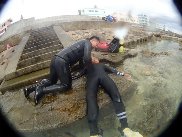沖縄 ダイビング レスキュー講習