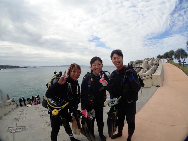 沖縄 沖縄本島 崎本部 ゴリラチョップ ダイビング ビーチダイビング 体験ダイビング