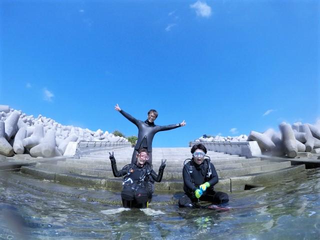 沖縄 沖縄本島 崎本部 ゴリラチョップ ダイビング ビーチダイビング スノーケル