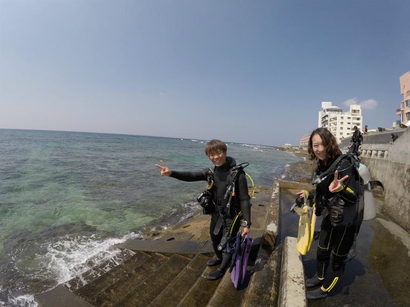 沖縄 北谷 砂辺 ダイビング ビーチダイビング