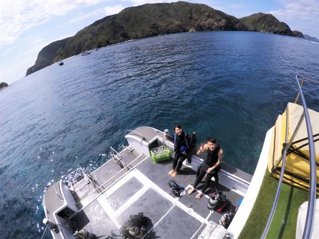 沖縄 慶良間諸島 慶良間 座間味島 渡嘉敷島 ダイビング ボートダイビング 自社船 ウミガメ