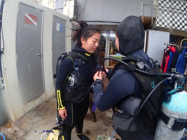 沖縄 北谷 砂辺 宮城海岸 ダイビング ビーチダイビング PADI オープンウォーター 講習