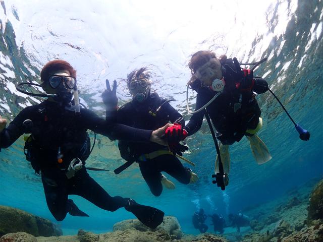 沖縄 沖縄本島 恩納村 ダイビング ビーチダイビング